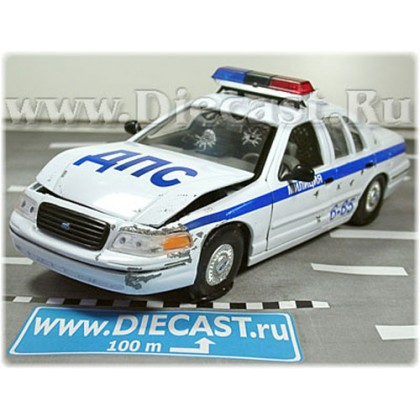 Ford Crown Victoria 1999 Russian Police Patrol Dps 1:24 D24W1683