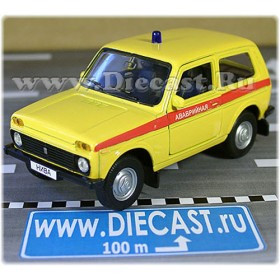 Lada Vaz 2121 21213 Niva 4x4 Russian Technical Support Rescue 1:34 D34W1559