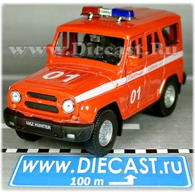 Uaz Hunter 4x4 Russian Fire Brigade Suv 1:36 D34W1496