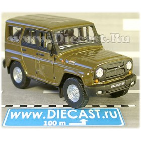 Uaz Hunter 4x4 Russian Army Offroad Suv Military Green 1:36 D34W1501