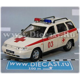 Lada Vaz 111 2111 Russian Ambulance EMS Emergency 1:36 D36W1941