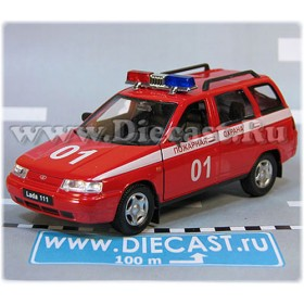 Lada Vaz 111 2111 Russian Fire Guard Emergency 1:36 D36W1942