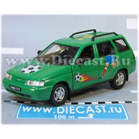 Lada Vaz 111 2111 Russian Estate Wagon Aerography Football Color Green 1:36 D36W1952