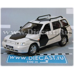 Lada Vaz 111 2111 Russian Estate Wagon Aerography Football Color White 1:36 D36W1953