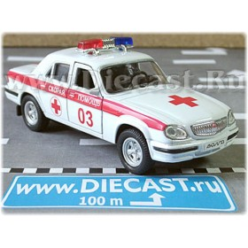 Gaz 31105 Volga Sedan Russian Ambulance 2003 1:43 D43W1011