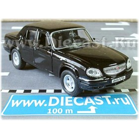 Gaz 31105 Volga Russian Sedan 2003 Color Black 1:43 D43W1007