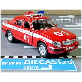 Gaz 31105 Volga Sedan Russian Fire Guard 2003 1:43 D43W1015