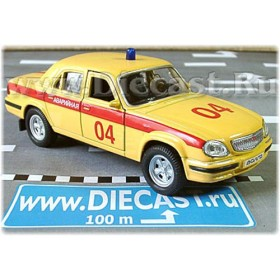 Gaz 31105 Volga Sedan Russian Emergency Gas Leaks Service 2003 1:43 D43W1010