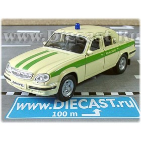 Gaz 31105 Volga Sedan Russian Armored SEcurity Service 2003 1:43 D43W1016