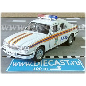 Gaz 31105 Volga Sedan Russian Special Rescue Team MCHS 2003 1:43 D43W1017