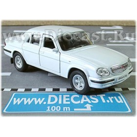 Gaz 31105 Volga Russian Sedan 2003 Color White 1:43 D43W1006
