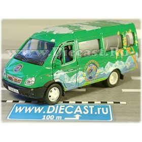 Gaz 3221 Gazelle Russian Tourist Tour Passenger Bus 1:43 D43W1508
