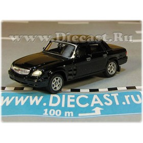 Gaz 31105 Volga Russian Sedan 2003 Color Black 1:60 D60W1800