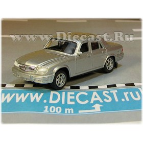 Gaz 31105 Volga Russian Sedan 2003 Color Silver 1:60 D60W1804