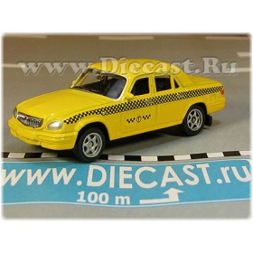 Gaz 31105 Volga Sedan Russian Yellow Taxi Cab 2003 1:60 D60W1805