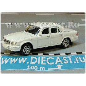 Gaz 31105 Volga Russian Sedan 2003 Color White 1:60 D60W1806