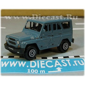 Uaz Hunter 31519-095 Suv 4x4 Off-Road Aka Russian Jeep Gelaendewagen Color Blue 1:60 D60W1807