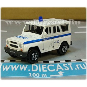Uaz Hunter 31519-095 Russian Police Patrol Pps 4x4 Off-Road Suv 1:60 D60W1809