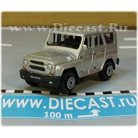 Uaz Hunter 31519-095 Suv 4x4 Off-Road Aka Russian Jeep Gelaendewagen Color Silver 1:60 D60W1811