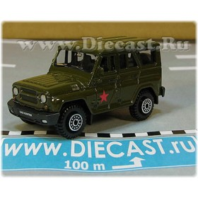 Uaz Hunter 31519-095 Russian Military Army 4x4 Off-Road Suv With A Star 1:60 D60W1812
