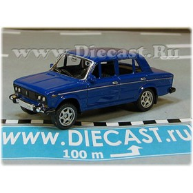 Lada Vaz 2106 1600 (FIAT 124 Berlina) Russian Sedan Color Blue 1:60 D60W1814