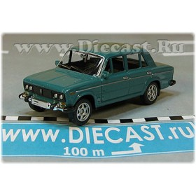Lada Vaz 2106 1600 (FIAT 124 Berlina) Russian Sedan Color Green 1:60 D60W1815