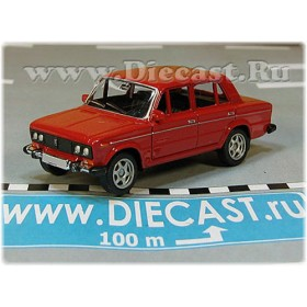Lada Vaz 2106 1600 (FIAT 124 Berlina) Russian Sedan Color Red 1:60 D60W1818