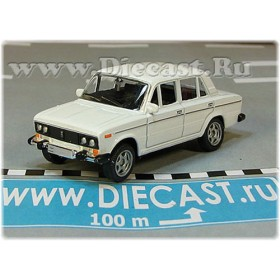 Lada Vaz 2106 1600 (FIAT 124 Berlina) Russian Sedan Color White 1:60 D60W1820