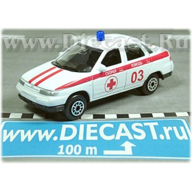 Lada Vaz 110 2110 Russian Ambulance Doctor Car 1:60 D60W0907