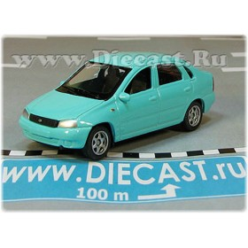 Lada Vaz 118 2118 Kalina Color Blue 1:60 D60W1822