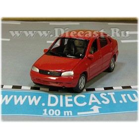 Lada Vaz 118 2118 Kalina Color Red 1:60 D60W1825