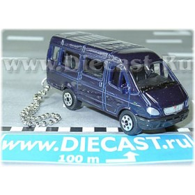 Gaz 3221 Gazelle Russian Van Color Blue Keyring 1:72 D43W1182