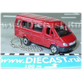Gaz 3221 Gazelle Russian Van Color Red Keyring 1:72 D43W1183