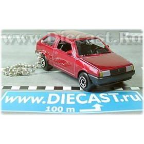 Lada Vaz 2108 Samara Russian Coupe Color Red Keyring 1:60 D43W1186