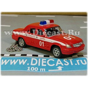 Gaz 31105 Volga Keyholder Keyring Sedan 2003 Russian Fire Fighters Fire Chief Car 1:60 D60W1855