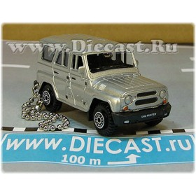 Uaz Hunter 31519-095 Keyholder Keyring Suv 4x4 Off-Road Aka Russian Jeep Color Silver 1:60 D60W1863