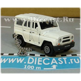 Uaz Hunter 31519-095 Keyholder Suv 4x4 Off-Road Aka Russian Jeep Color White 1:60 D60W1865