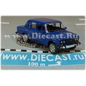 Lada Vaz 2106 1600 (FIAT 124 Berlina) Keyholder Keyring Russian Sedan Color Blue 1:60 D60W1866