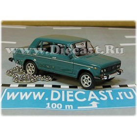 Lada Vaz 2106 1600 (FIAT 124 Berlina) Keyholder Keyring Russian Sedan Color Green 1:60 D60W1867
