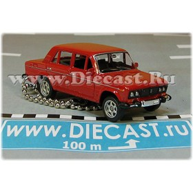 Lada Vaz 2106 1600 (FIAT 124 Berlina) Keyholder Keyring Russian Sedan Color Red 1:60 D60W1870
