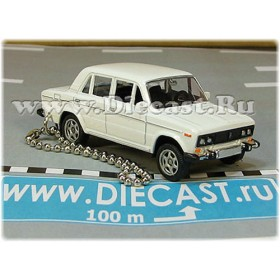 Lada Vaz 2106 1600 (FIAT 124 Berlina) Keyholder Keyring Russian Sedan Color White 1:60 D60W1872
