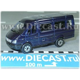 Gaz 3221 Gazelle Russian Van Color Blue 1:72 D72W0893