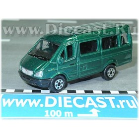 Gaz 3221 Gazelle Russian Van Color Green 1:72 D72W0894