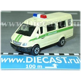 Gaz 3221 Gazelle Russian Armored SEcurity Van 1:72 D72W0892