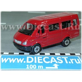 Gaz 3221 Gazelle Russian Van Color Red 1:72 D72W0895