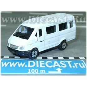 Gaz 3221 Gazelle Russian Van Color White 1:72 D72W0897