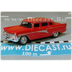 Gaz 13 Chaika Soviet Russian Limousine Color Red 1:72 D72W1831