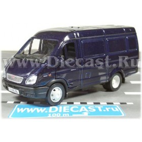 Gaz 2750 Gazelle Russian Cargo Van Color Blue 1:43 D43W0656