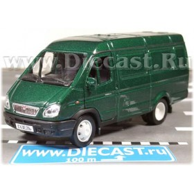 Gaz 2750 Gazelle Russian Cargo Van Color Green 1:43 D43W0654
