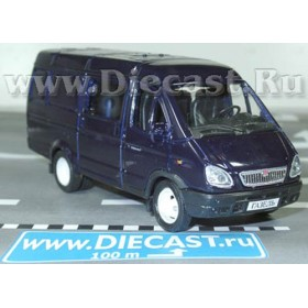 Gaz 2750 Gazelle Combi Russian Van Color Blue 1:43 D43W0660